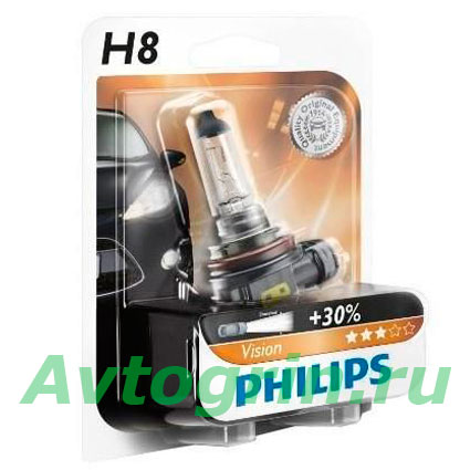 Лампа H8 12V-35W (PGJ19-1) Philips
