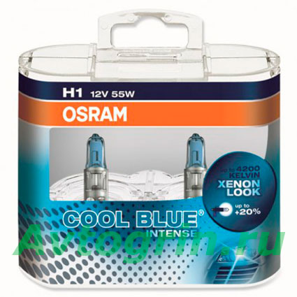 Лампа H1 55W (блистер) 64150CBI COOL BLUE Duo Box (2 шт) OSRAM