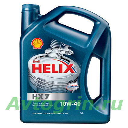 Масло моторное Shell Helix Plus HX7 10W-40 п/синтетика 4 л